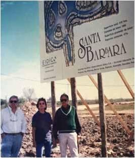 En los comienzos de Santa Bárbara, junto a María Victoria Hueyo.